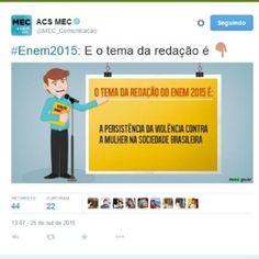 Tema de redação do Enem 2015 gera polêmica nas redes sociais