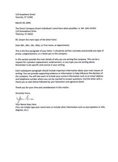 Business Letter Format Xerox Layout Example How Sample With  Home