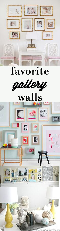 Favorite Gallery Walls!