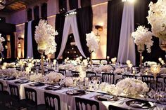 An Old Hollywood Wedding Affair at the Roosevelt Hotel. Exactly what I want! The only thing I would change would be chair colors