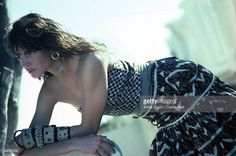 News Photo : Model Stephanie Seymour wearing 'sauvage'...
