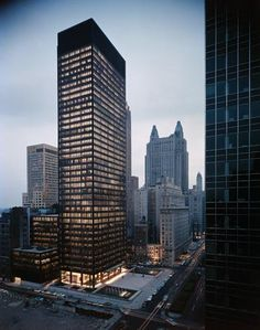 """""""Seagram Building Mies van der Rohe. #Project #midterm #facade #detailed #architecture #interested"""""""