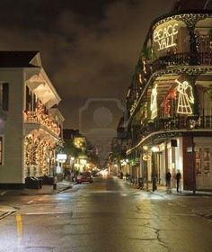 Christmas Lights on the corner of Royal and Dumaine Streets in the French Quarter of New Orleans New Orleans Homes, New Orleans Louisiana, New Orleans Christmas, Great Places, Beautiful Places, Places To Travel, Places To Go, New Orleans Architecture, New Orleans Mardi Gras