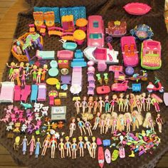 Huge Lot Polly Pocket & Disney Dolls Animals Clothing Furniture Cars Accessories #DollswithClothingAccessories