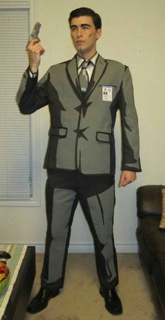 Awesome Two toned Sterling Archer Cosplay Amazing Cosplay, Best Cosplay, Halloween Cosplay, Halloween Costumes, Halloween Ideas, Archer Costume, Cosplay Tutorial, Cool Costumes, Costume Ideas