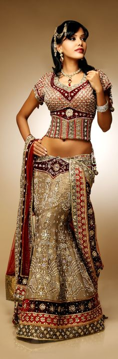 Heavy #Bridal #Lehenga #Choli Check out this page now :-http://www.ethnicwholesaler.com/sarees-saris