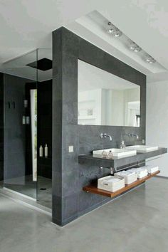 Luxury Bathroom Master Baths Walk In Shower is definitely important for your home. Whether you pick the Luxury Bathroom Master Baths Beautiful or Luxury Master Bathroom Ideas, you will make the best Small Bathroom Decorating Ideas for your own life. Minimal Bathroom, Modern Bathroom Design, Bathroom Interior Design, Small Bathroom, Master Bathroom, Bath Design, Bathroom Faucets, Bathroom Designs, Masculine Bathroom