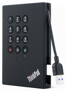 Perfect for a busy office with nosey coworkers.  Lenovo ThinkPad USB 3.0 Secure Hard Drive