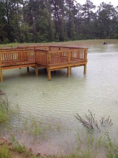 Fishing pond dock landscape pinterest discover best for Pond pier plans