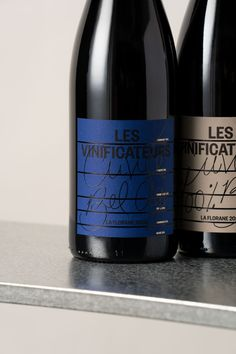 Les Vinificateurs 2021 on Packaging of the World - Creative Package Design Gallery Custom Wine Labels, Drinks Cabinet, Wine Packaging, Foil Stamping, Wine Making, Packaging Design Inspiration, Fun To Be One, Glass Bottles, Printing Process