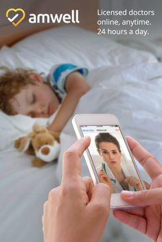 Your child's symptoms are enough to keep you both up at night. Install the Amwell app, talk to a licensed doctor now, and get answers to help you sleep easy. http://get.amwell.com/sf-mobile/?my_adgroup=Pinterest&my_ad=1.3P&utm_source=Pinterest&utm_medium=1.3P
