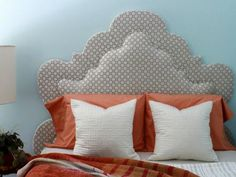 Double Thick Upholstered Headboard With A Border