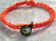 Armband - Glück - Glückspilz -Botschaftsarmband von Kreawusel-Schmuck  auf DaWanda.com