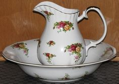 Royal Albert Old Country Roses Huge Pitcher & Basin Bowl Set EXTREMELY RARE   300.00
