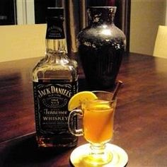 Hot Toddy - Here's Our Ideal Recipe: 8oz Hot Water 1 Bag Herbal Tea 1oz Bourbon 1 Tablespoon Honey 1 Lemon Wedge Pour hot water into mug and steep tea for 2-3 minutes. Remove tea bag and add honey, stirring to dissolve. Pour in whiskey, add squeeze of lemon, stir and find relief.