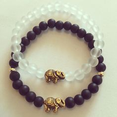 #zowiecreation Siguenos instagram & facebook #bracelets #pulseras #conbinatios #elephant #elefante #gold #black #negro #jewerly #pr #handmade