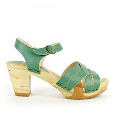 4dde4ac34 Bosabo 236 Quarter Strap Sandal Clog in Mint - Handmade Shoes for Women and  Men