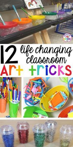 12 life changing classroom art tricks - create less mess and more art