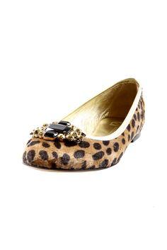 Cheetah-Print Flats