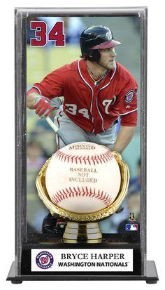 Bryce Harper Washington Nationals Baseball Display Case with Gold Glove & Plate