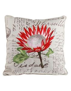 Protea Flower, Flowers, Scatter Cushions, Throw Pillows, King Art, Chocolate Bouquet, Pincushions, Fabric Painting, Ceramic Pottery