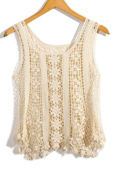 #Chicwish Floral Crochet Tunic - Tops - Retro, Indie and Unique Fashion