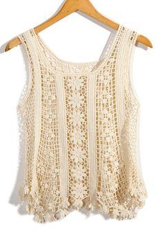 Túnica Crochet Floral - Moda Retro, Indie y único