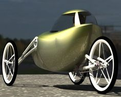 Joseph Campbell Concept puts Velomobile in an 'American form' Microcar, Techno Gadgets, Lowrider Bicycle, Recumbent Bicycle, Power Bike, Reverse Trike, Bicycle Pedals, Pedal Cars, Bike Design
