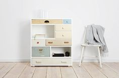 furniture from old drawers, like that this piece has open space.