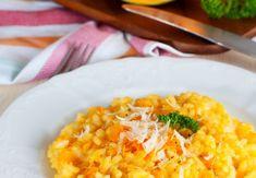 Dýňové rizoto s ricottou Modern Food, Food Inspiration, Rice, Vegetarian, Healthy Recipes, Vegetables, Ethnic Recipes, Turmeric, Healthy Eating Recipes