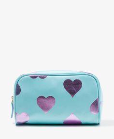 Metallic Heart Cosmetic Bag | FOREVER21 - 1037584597