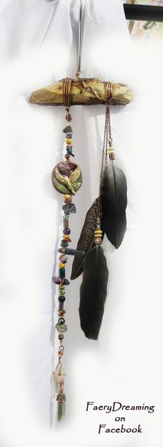 From FaeryDreaming, the Spirit Song collection, objects created using crystals, wood, ritual items, handcrafted symbols and totems to transform ordinary space into sacred space... https://www.facebook.com/FaeryDreamingWandsandJewellerybyRowanElement