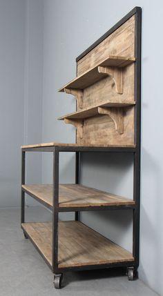 Modern Wooden Furniture, Industrial Design Furniture, Iron Furniture, Bench Furniture, Home Decor Furniture, Furniture Plans, Furniture Making, Palette Furniture, Modern Home Bar