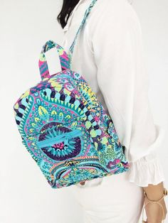 Your place to buy and sell all things handmade Diaper Bag Backpack, Mini Backpack, Hippie Backpack, Hippie Boho, Bohemian, Painted Bags, Toiletry Bag, Canvas Fabric, Vera Bradley Backpack