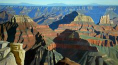 """North Rim of the Grand Canyon,"" Frank Ray Huff, Jr., 36x48, oil on canvas"