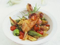 Rezept: Rosmarinhähnchen mit Gemüse