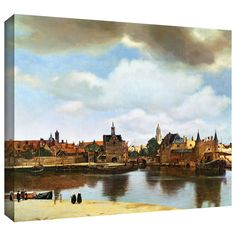 'View of Delft III' by Johannes Vermeer Gallery Wrapped on Canvas