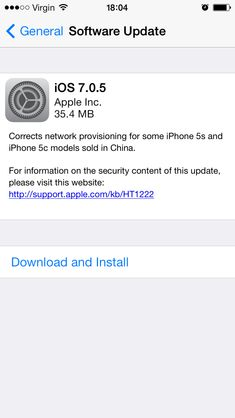 Apple releases 7.0.5 to fix network errors in China for iPhone 5s and 5c