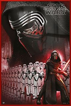 Star Wars Episode VII: The Force Awakens Kylo Ren with Stormtroopers Official poster Star Wars Film, Star Wars Episoden, Star Wars Kylo Ren, Star Wars Poster, Starwars, Sith, Kylo Ren Poster, Star Wars Episodio Vii, Darth Vader