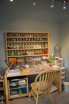 Lampwork Bead Studio located in Edmonds, Washington. Handmade artisan lampwork glass beads made with Italian glass and annealed for durability. Art Studio Organization, Bead Organization, Bead Storage, Craft Storage, Storage Ideas, Space Crafts, Home Crafts, Art Supplies Storage, Bead Studio