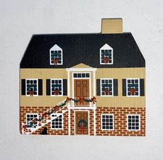 Wooden Buildings, Wooden House, Vintage Cat, Wooster Ohio, Baby Shower Decorations, Savannah Chat, Small Company, Seaside Village, Vintage Christmas