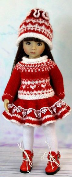 This Pin was discovered by Ann Crochet Doll Clothes, Knitted Dolls, Girl Doll Clothes, Doll Clothes Patterns, Crochet Dolls, Clothing Patterns, Girl Dolls, Sasha Doll, American Doll Clothes