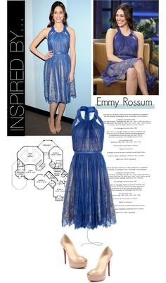 """Inspired By... Emmy Rossum"" by polkadotsandlace ❤ liked on Polyvore"