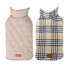honden Jassen / Jack / Gilet Rood / Groen / Bruin / Beige Hondenkleding Winter Geruit Houd Warm / Omkeerbaar 2715323 2016 – €11.46  2xl