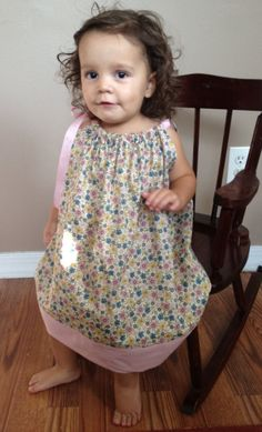 Custom Made Pillowcase Dress  Muted Pink/Blue/ by Biadsboutique, $19.99