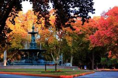 Fuente de los 5 continentes, Parque General San Martin San Martin, Fountain, Sidewalk, America, Outdoor Decor, Travel, Sun, Continents, Parks