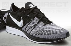 Nike Flyknit Trainer+ - Black/White - Mens Running Shoes