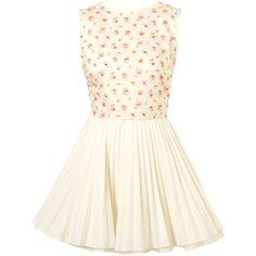Liberty Julia Dress By Jones And Jones** (€125) ❤ liked on Polyvore featuring dresses, vestidos, short dresses, topshop, women, cotton mini dress, white dresses, white mini dress, white cotton dress and rosette dress