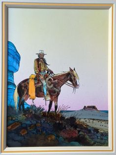 1989 - Blueberry : Couverture américaine by Jean Giraud, Moebius - Original… Jean Giraud, Western Comics, Western Art, Moebius Comics, Moebius Art, Nogent Sur Marne, Serpieri, Art Occidental, American Frontier