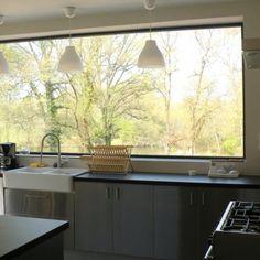 Une vue extraordinaire dans la cuisine
